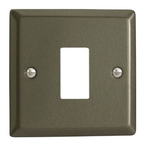 Varilight XPPGY1 Classic Graphite 21 1 Gang PowerGrid Plate (Single Plate)